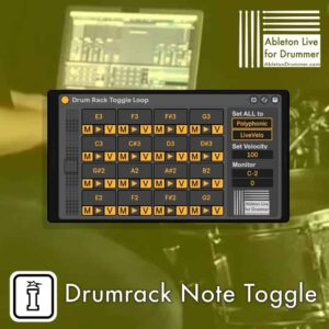 Drumrack Note Toggle