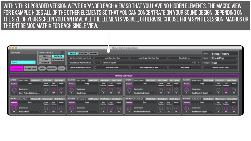 Novation Circuit Editor Pro Macros Infographic