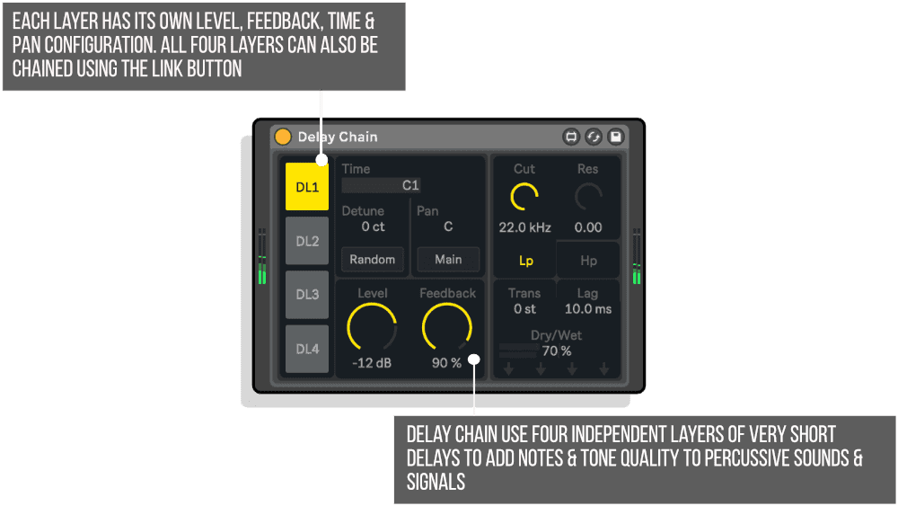 Delay Chain MaxforLive Modulation Device for Ableton Live