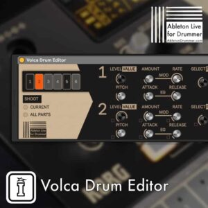 Korg Volca Drum Editor by Ableton Drummer