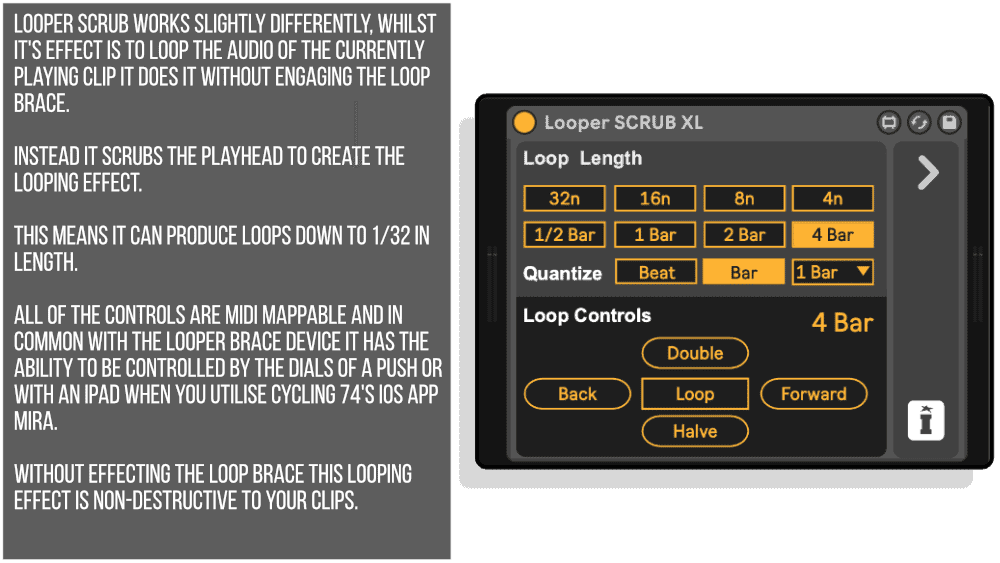 Looper SCRUB XL MaxforLive device for Ableton Live