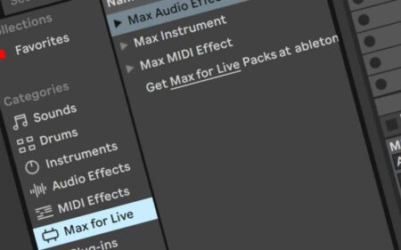MaxforLive Audio Devices Category