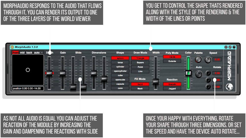 Morph Audio Advanced Infographic