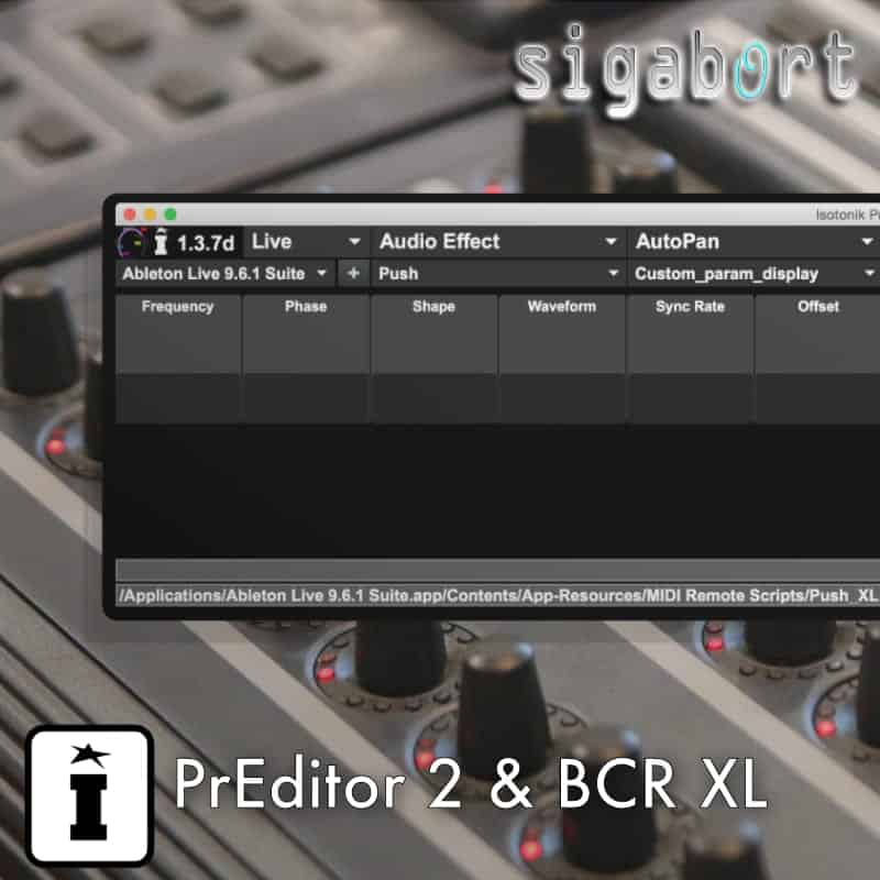 PrEditor 2 & Behringer BCR Ableton Control Surface Script
