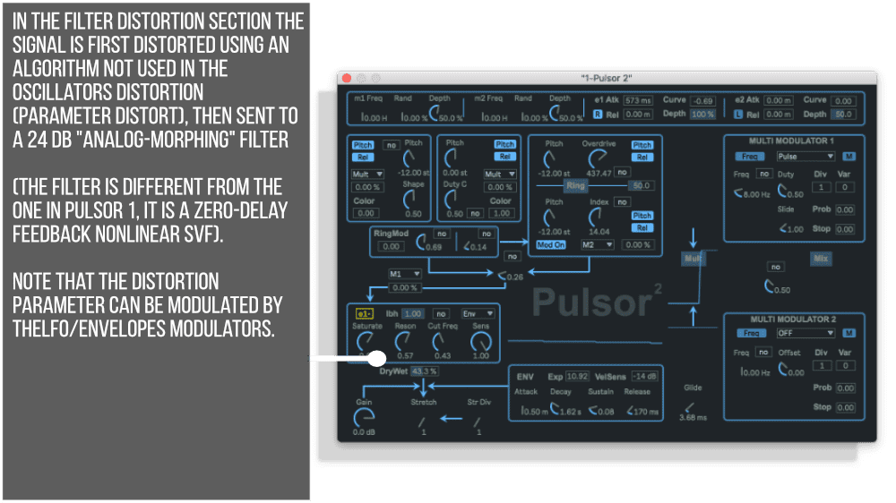 Pulsor Suite Filter Distortion